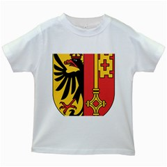 Coat of Arms of Geneva Canton  Kids White T-Shirts
