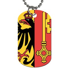 Coat of Arms of Geneva Canton  Dog Tag (One Side)