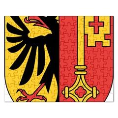 Coat of Arms of Geneva Canton  Rectangular Jigsaw Puzzl