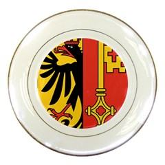 Coat of Arms of Geneva Canton  Porcelain Plates