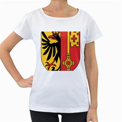Coat of Arms of Geneva Canton  Women s Loose-Fit T-Shirt (White)