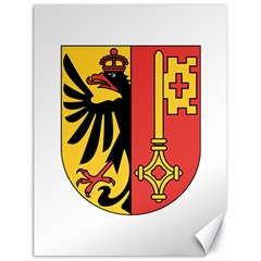 Coat of Arms of Geneva Canton  Canvas 18  x 24