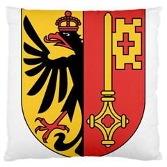 Coat of Arms of Geneva Canton  Large Cushion Case (Two Sides)