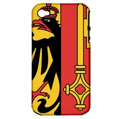 Coat of Arms of Geneva Canton  Apple iPhone 4/4S Hardshell Case (PC+Silicone)