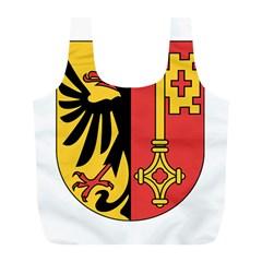Coat of Arms of Geneva Canton  Full Print Recycle Bags (L)