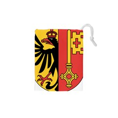 Coat of Arms of Geneva Canton  Drawstring Pouches (XS)