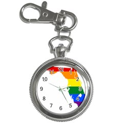 LGBT Flag Map of Florida Key Chain Watches
