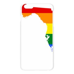 LGBT Flag Map of Florida Apple Seamless iPhone 6 Plus/6S Plus Case (Transparent)