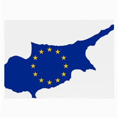 European Flag Map of Cyprus  Large Glasses Cloth
