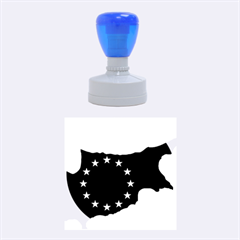 European Flag Map Of Cyprus  Rubber Round Stamps (medium)