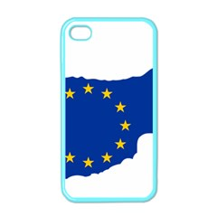 European Flag Map of Cyprus  Apple iPhone 4 Case (Color)