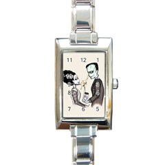 FrankenHeart Rectangle Italian Charm Watch