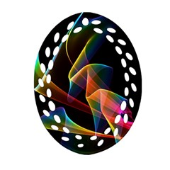 Crystal Rainbow, Abstract Winds Of Love  Ornament (oval Filigree)