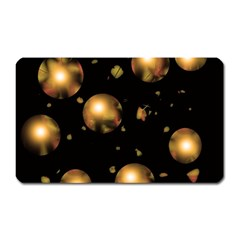 Golden balls Magnet (Rectangular)