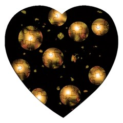 Golden balls Jigsaw Puzzle (Heart)