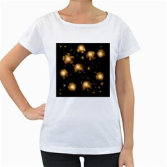 Golden balls Women s Loose-Fit T-Shirt (White)