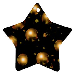 Golden balls Star Ornament (Two Sides)