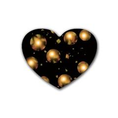 Golden balls Heart Coaster (4 pack)