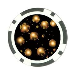 Golden balls Poker Chip Card Guards