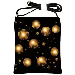 Golden balls Shoulder Sling Bags