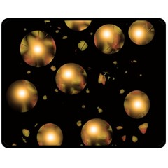 Golden balls Fleece Blanket (Medium)