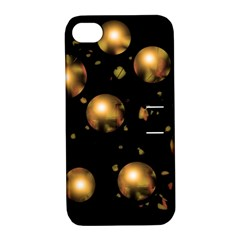Golden balls Apple iPhone 4/4S Hardshell Case with Stand