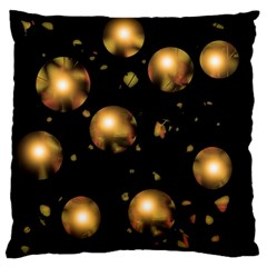 Golden balls Large Flano Cushion Case (Two Sides)