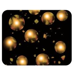 Golden balls Double Sided Flano Blanket (Medium)