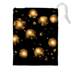 Golden balls Drawstring Pouches (XXL)