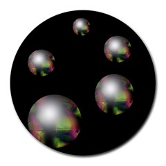 Silver pearls Round Mousepads