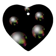 Silver pearls Ornament (Heart)