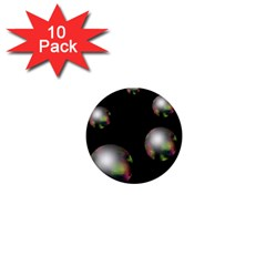 Silver pearls 1  Mini Buttons (10 pack)