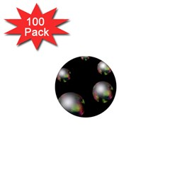 Silver pearls 1  Mini Magnets (100 pack)