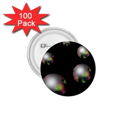 Silver pearls 1.75  Buttons (100 pack)