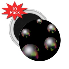 Silver pearls 2.25  Magnets (10 pack)
