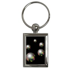 Silver pearls Key Chains (Rectangle)