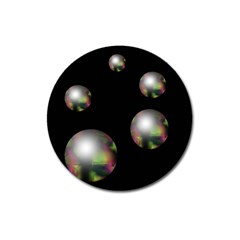 Silver pearls Magnet 3  (Round)
