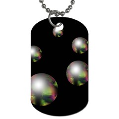 Silver pearls Dog Tag (One Side)