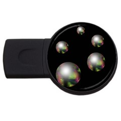 Silver pearls USB Flash Drive Round (2 GB)