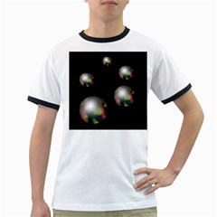 Silver pearls Ringer T-Shirts