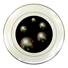 Silver pearls Porcelain Plates