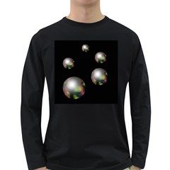 Silver pearls Long Sleeve Dark T-Shirts