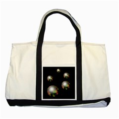 Silver pearls Two Tone Tote Bag