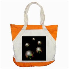 Silver pearls Accent Tote Bag