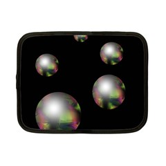 Silver pearls Netbook Case (Small)