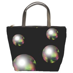Silver pearls Bucket Bags