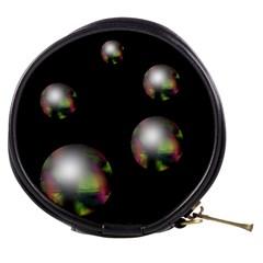 Silver pearls Mini Makeup Bags