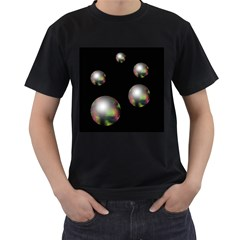 Silver pearls Men s T-Shirt (Black)