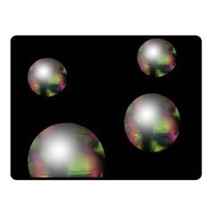 Silver pearls Fleece Blanket (Small)