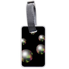 Silver pearls Luggage Tags (Two Sides)
